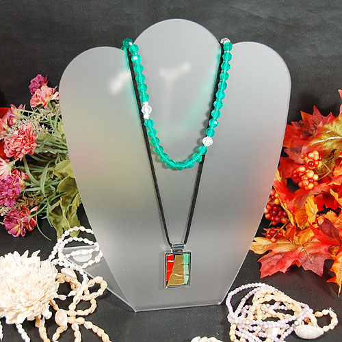 "Necklace Display- Frosty Acrylic- 8 3/8"" x 10 1/4""H"
