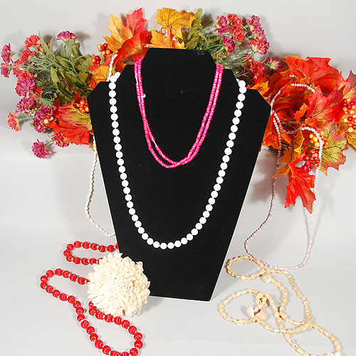 Necklace Display- Stepped Pad- 8 1/4