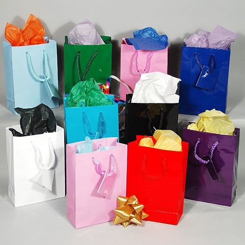 Gift Bags Solid Color Gift Bags Glossy Gift Bags Wholesale Gift