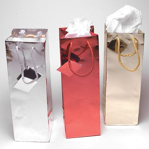 Foil Gift Bags- Bottle and Wine- 4