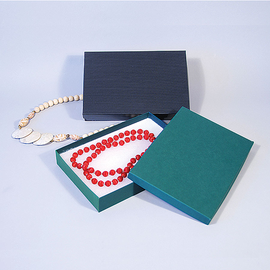 "Large Beads/Necklace Box- 8"" x 5 1/2"" x 1 1/4""- 50/Case- Made in USA"