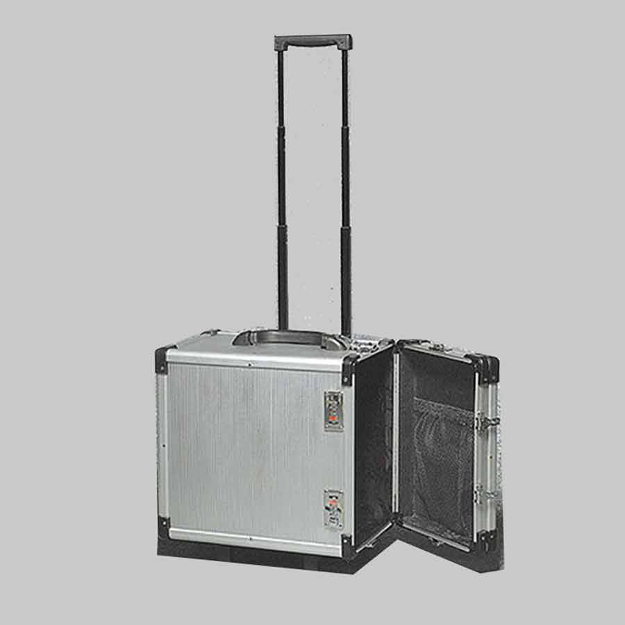 Wheeled Aluminum Jewelry Carrying Case- 16 3/8