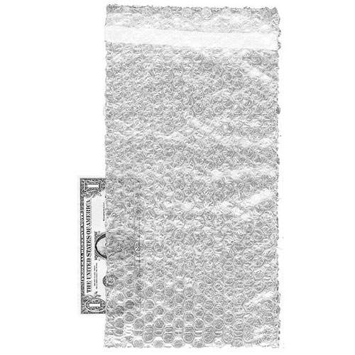 "Bubble Bags- 8"" x 15 1/2""- 100/case- Self-Sealing 1"" Lip, Tape Closure"