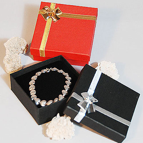 bow tie ribbon jewelry boxes linen textured black or red jewelry boxes. Black Bedroom Furniture Sets. Home Design Ideas