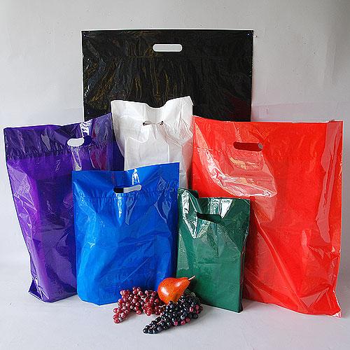 Cut Handle Merchandise Bags Heavyweight High Gloss