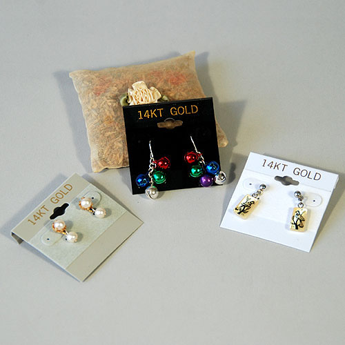 "Earring Cards- 2"" x 2""- ""14 Kt Gold""- Price Per 100"