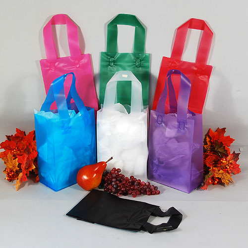 "Frosty Shopper Bags- Rose Size- 5 3/4"" x 3 1/4"" x 8 3/8""- Heavy 4 Mil- 250/case"