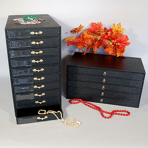 Jewelry Organizer Workstation Storage Bench
