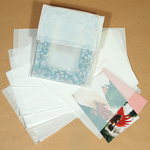"Glossy Bags With 1/2"" Lip- Low Density- 7 1/2"" x 13""- Packed 1,000"