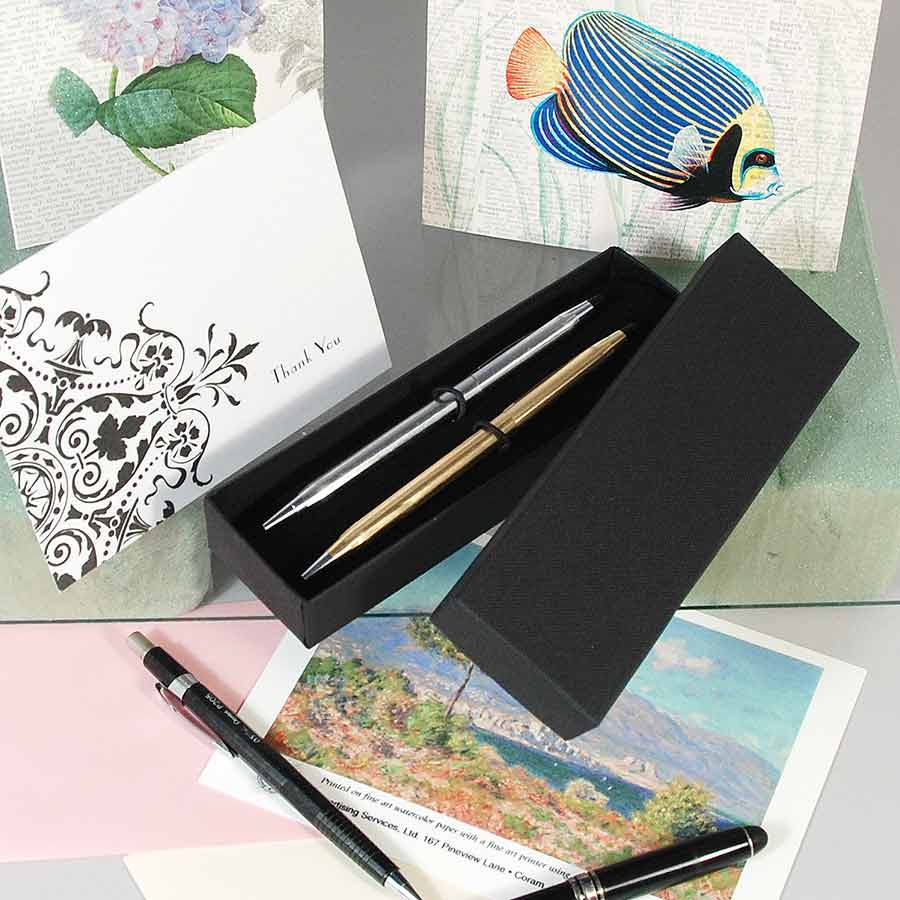 "Pen Box- Double- 2"" x 6 5/8"" x 1 1/8""- Black- Price Per Piece"