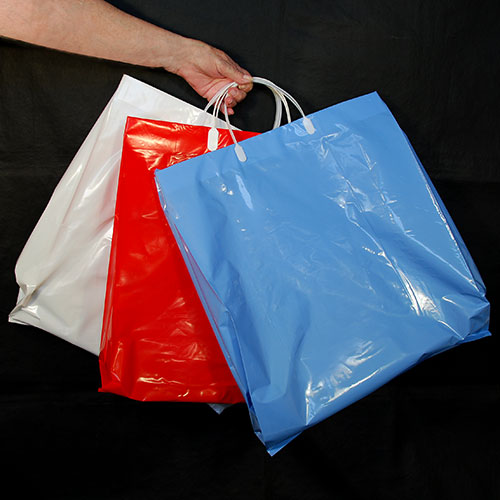 "Plastic Shopping Bags- 16"" x 6"" x 19""- Extra Strong 3 Mil- Price Is Per 10 Bags"