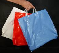 "Plastic Shopping Bags- 16"" x 6"" x 19""- Extra Strong 3 Mil"