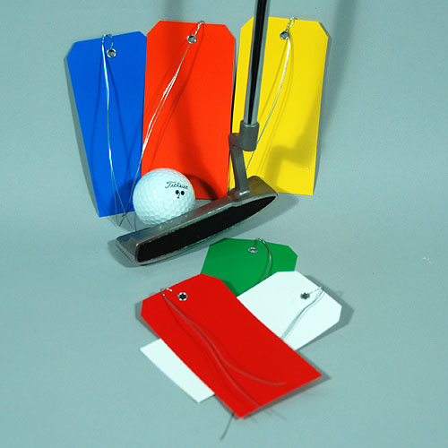 Plastic Tags with Attached Wire- Tear Proof- #5- 4 3/4