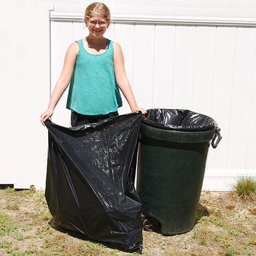 "Trash Liner- Heavyweight- 23"" x 10"" x 39""- 33 gal- 100/case"