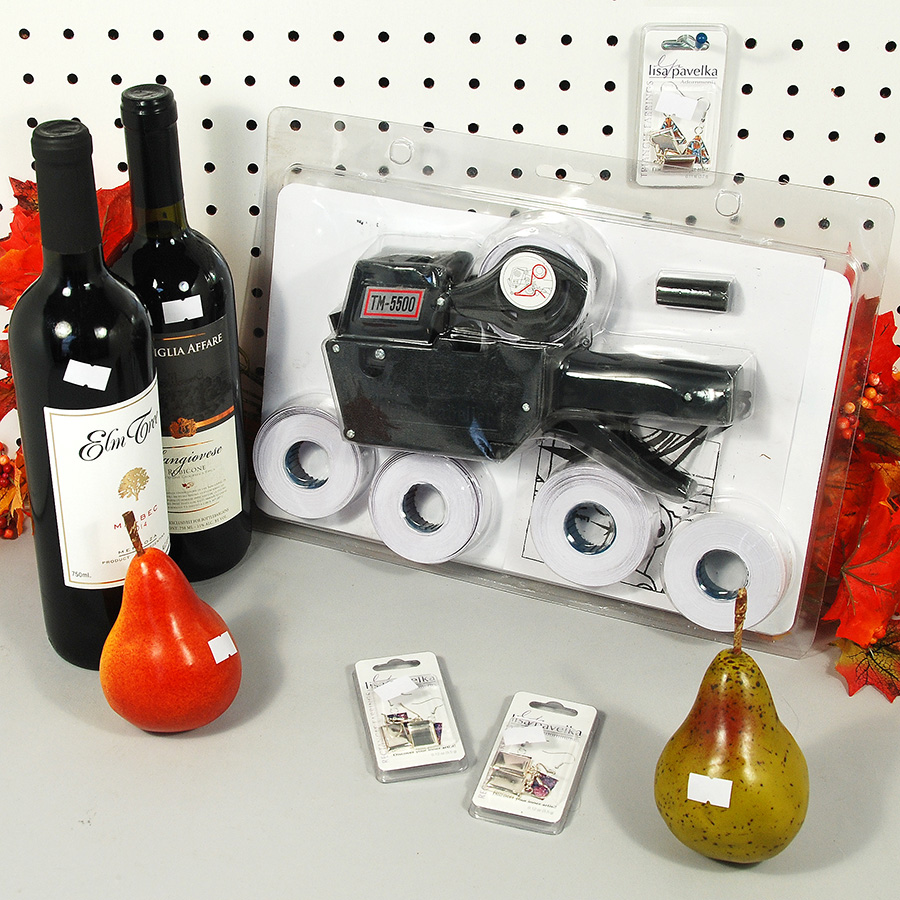 Price Marking Labeler Kit- Includes 1 Labeler, 4 Rolls and 1 Ink Roller