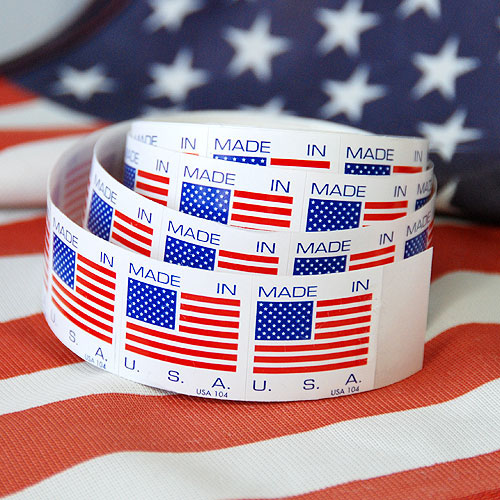 Made in USA- Flag Label- 1