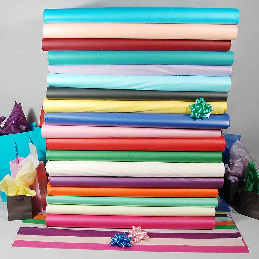 colored tissue paper Premium colored tissue paper this premium wrapping tissue paper comes in 160+ gorgeous shades and multiple size options the bright colors are perfect for crafting projects, and the paper is easy to flex, shape, fold, glue, and manipulate into whatever you'd like.