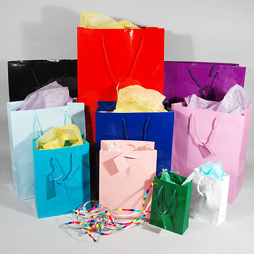 Gift bags small large bottle kraft foil mini negle Image collections