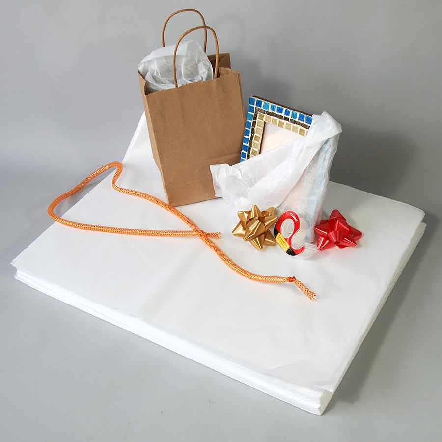paper reams Acid free tissue paper white, in reams, or sheets number 1 grade, no minimum order, free shipping.